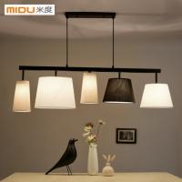 米度餐厅灯饰美式乡村风格现代简约书房创意餐桌饭厅灯具北欧吊灯