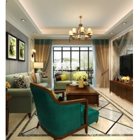 升龙城130平三居室,清新简美风格设计