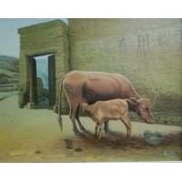 国家一级美术师高志刚油画创作《哺育》